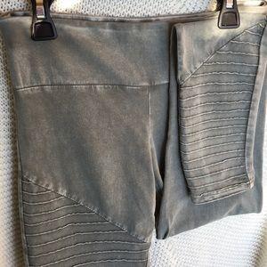 Pants - Gray Fashion Leggings